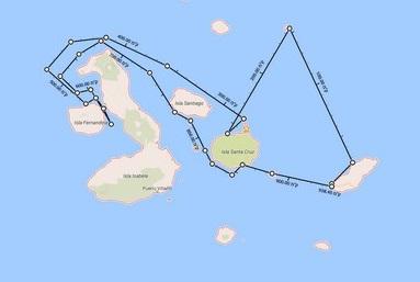 איי גלפגוסוטיול באקוודור, מפה