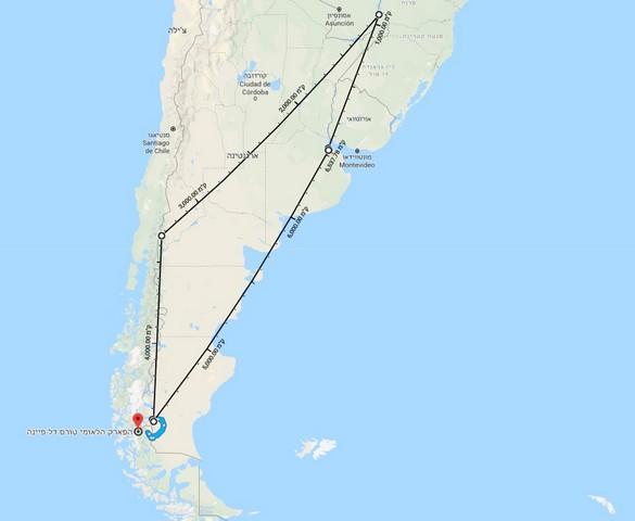 טיול לארגנטינה לשבועיים, מפה