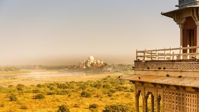 טיול להודו, אגרה, מבט על טאג' מהאל ממבצר אגרה