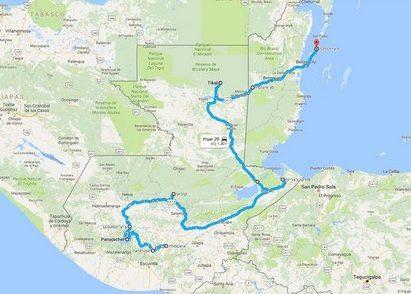 טיול לגואטמלה ובליז, מפה
