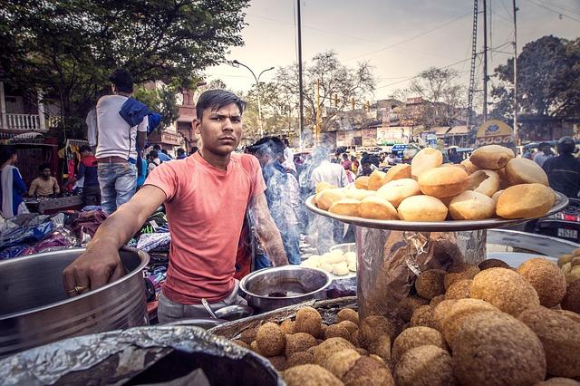 אוכל רחוב בניו דלהי, טיול להודו