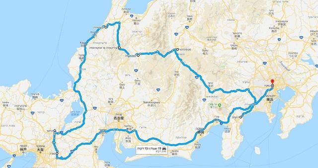 טיול ליפן למשפחות, מפה