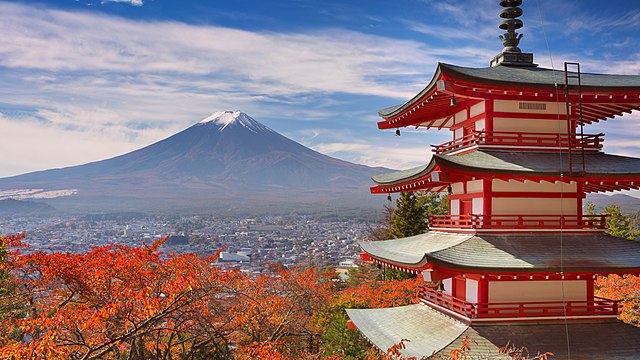 By Dang Son - 12-Chureito-pagoda-and-Mount-Fuji-Japan, CC0, https://commons.wikimedia.org/w/index.php?curid=73659632